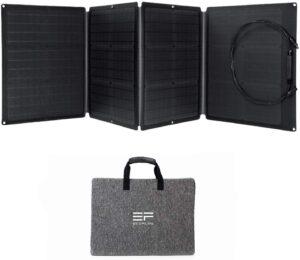 Avis du puissant EcoFlow 110W, un panneau solaire pliable avec sortie MC4