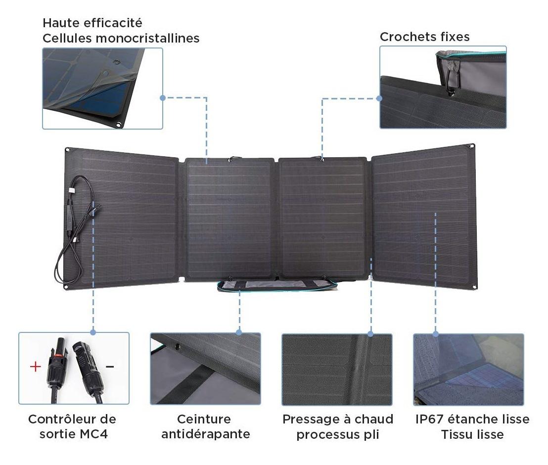 Le panneau solaire pliable EcoFlow 110 est pratique et performant
