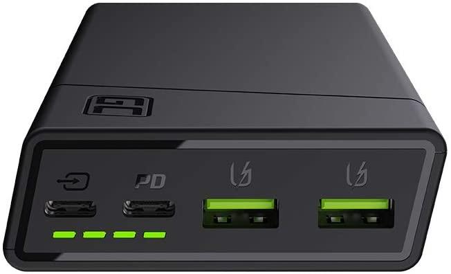 Batterie Green Cell 20000mAh avec 3 sorties USB charge rapide et une entrée USB-C