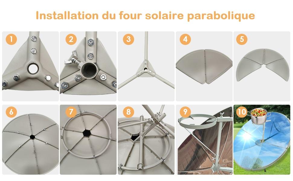 Installer votre four solaire parabolique en suivant les 10 étapes