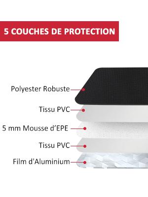 Le sac repas isotherme Aosbos contient une isolation thermique avec 5 couches de protection