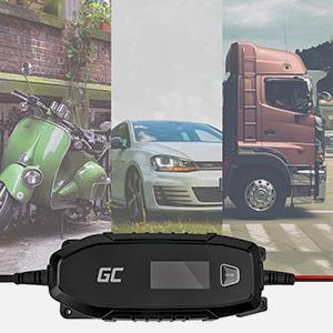 Utilisez le chargeur Green Cell 6/12V pour recharger votre scooter, voiture ou camping-car