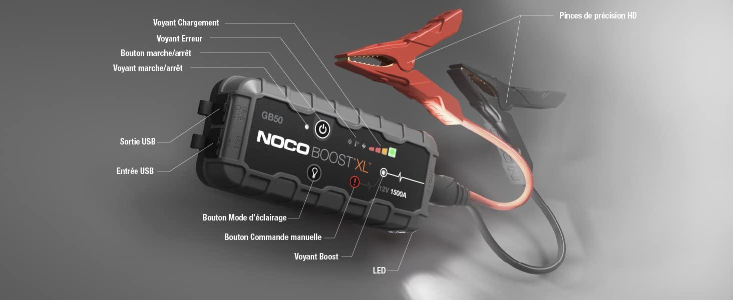 Noco GB50 : fiche produit du booster polyvalent américain