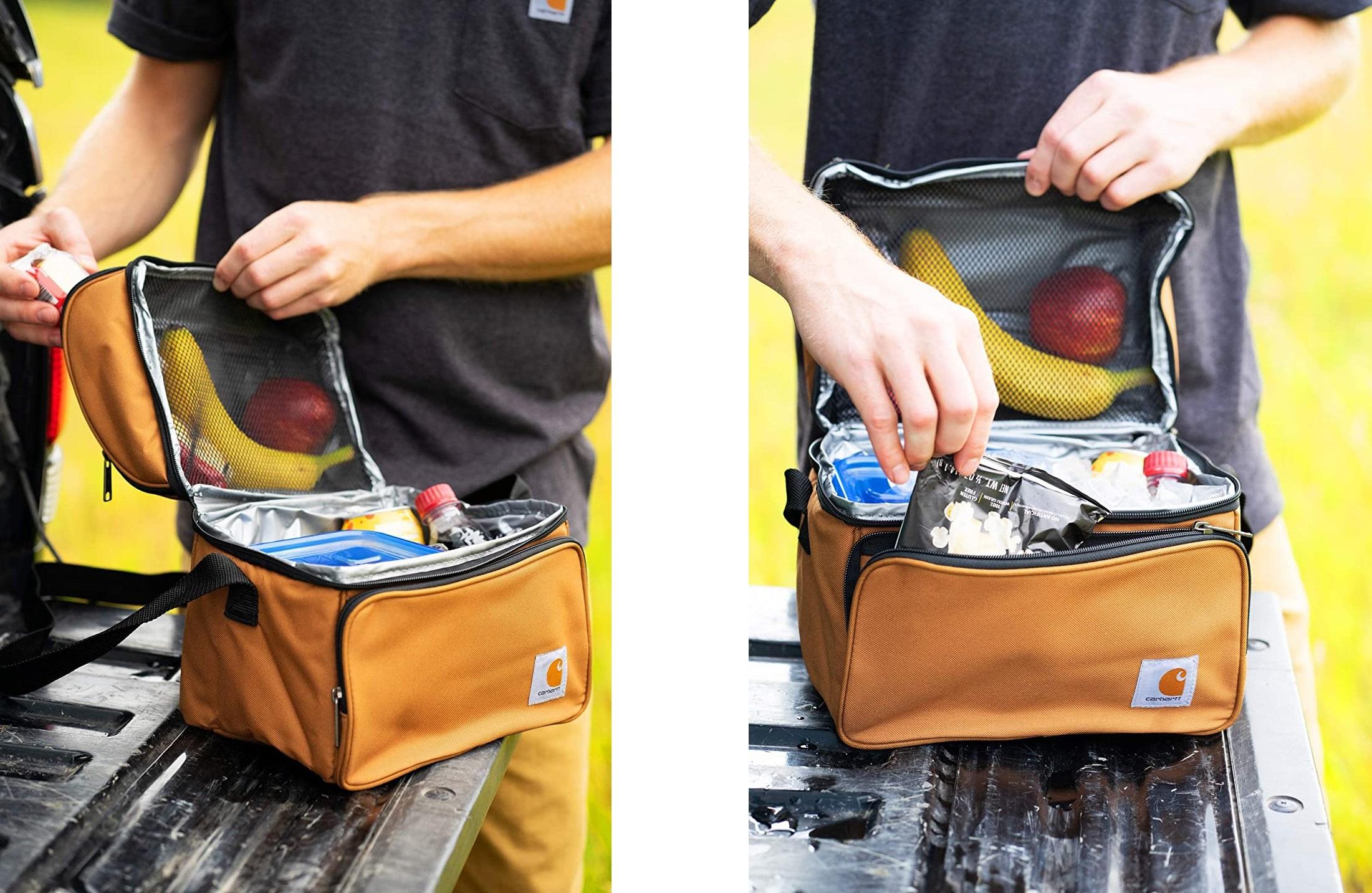 Carhartt Deluxe : sac isotherme repas pratique avec 2 poches isotherme zippées + une poche frontale à zip