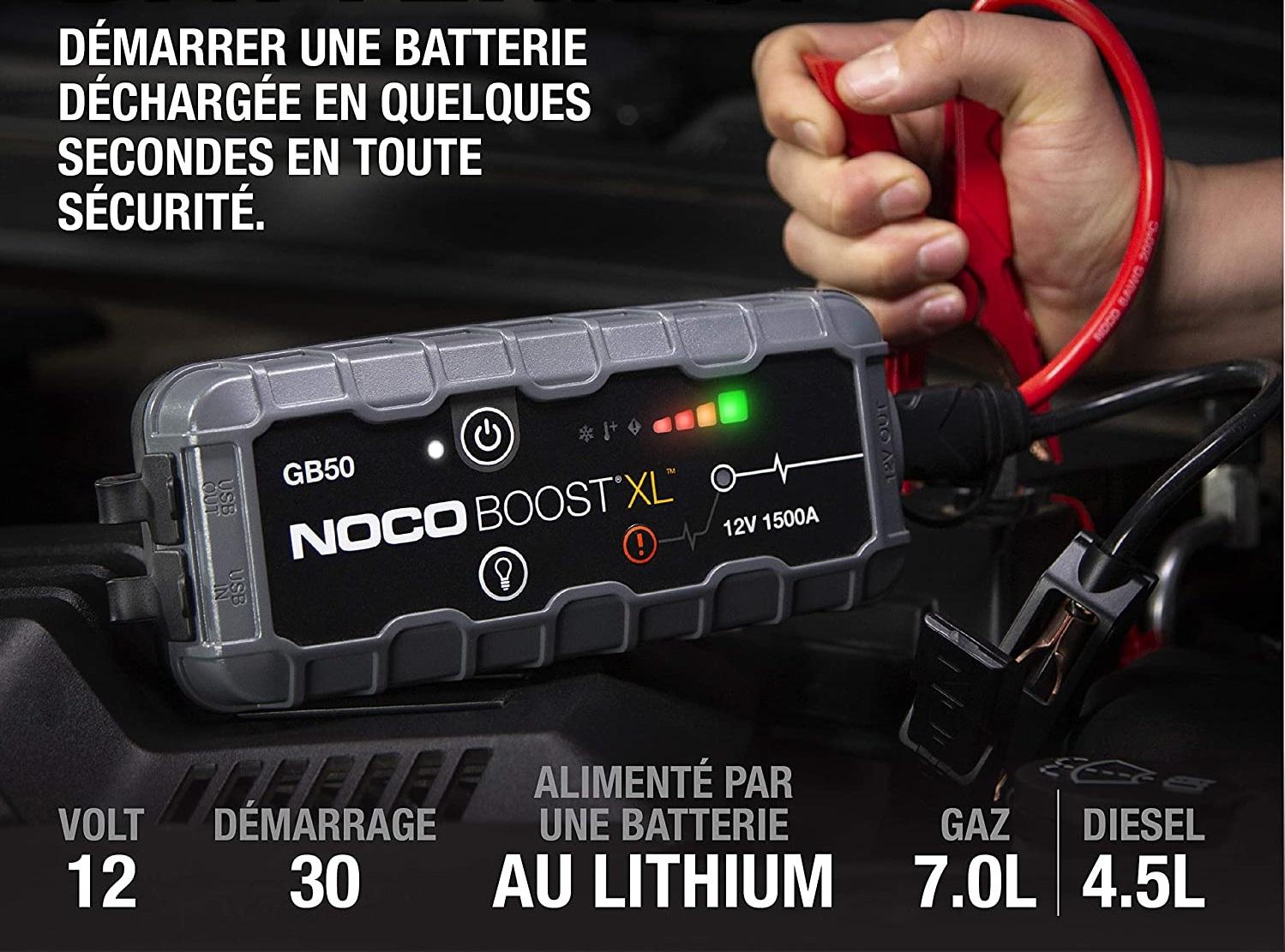 Noco GB50 : redémarrez jusqu'à 30 fois la batterie de votre véhicule