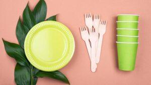 Vaisselle biodégradable camping