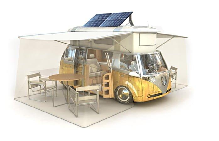 Comment Installer des panneaux solaires incliné sur un camping-car ?
