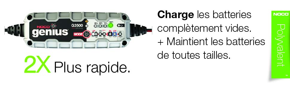 Notre avis sur le chargeur de batterie voiture et camping-car NOCO G3500 EU