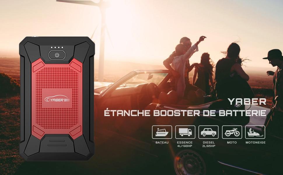 Booster de batterie étanche et compatible pour tous les véhicules