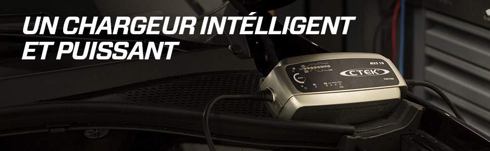 Chargeur de batterie automatique CTEK MXS 10 puissant