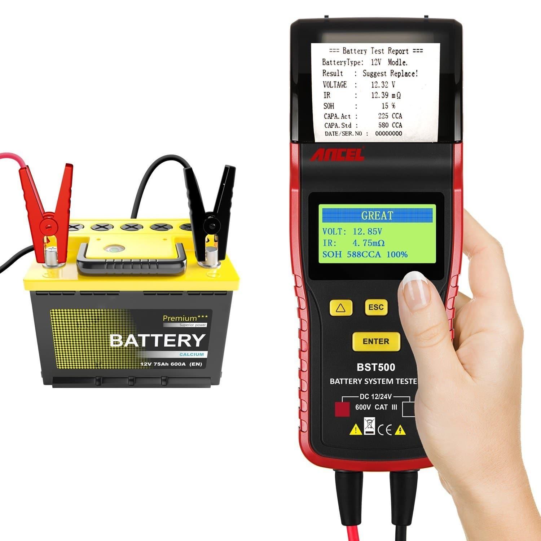 Testeur de batterie qui imprime sur papier les résultats.