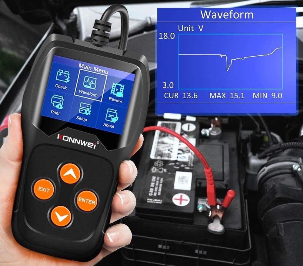 Testeur de batterie professionnel avec écran numérique