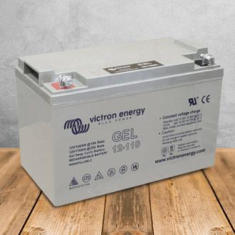 Caractéristiques de la batterie décharge lente Victron Energy BAT412101104 110 Ah